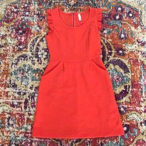 Xhilaration orange dress w/pocket & zipper
